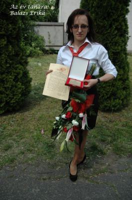 év tanára Balázs Erika
