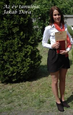 év tanulója Jakab Dóra